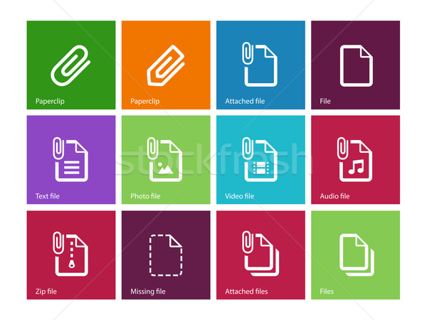 File Clip icons on color background. Stock photo © tkacchuk