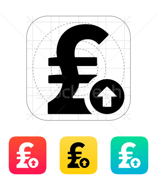 Pound sterling exchange rate up icon. Stock photo © tkacchuk