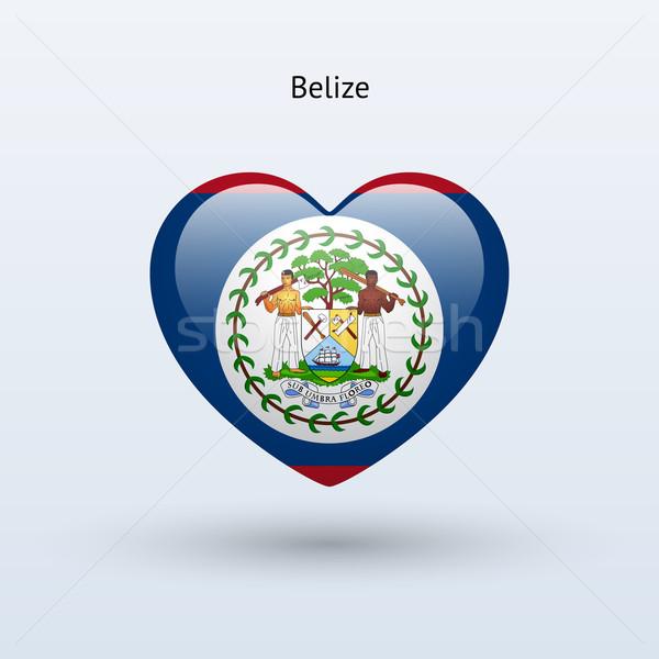 любви Белиз символ сердце флаг икона Сток-фото © tkacchuk