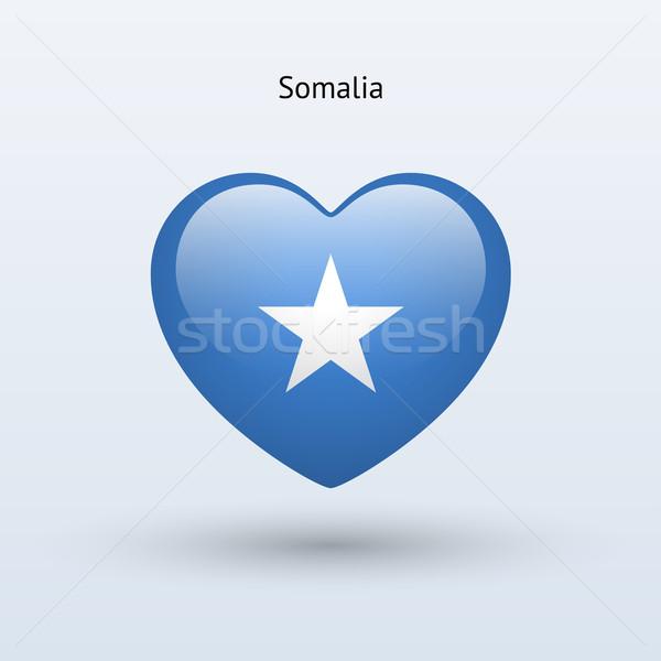 Сток-фото: любви · Сомали · символ · сердце · флаг · икона