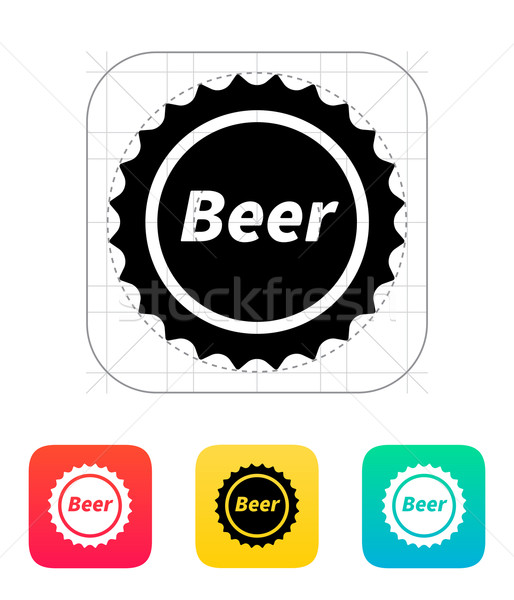 Beer bottle cup icon. Stock photo © tkacchuk
