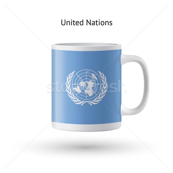 Vlag souvenir mok witte geïsoleerd koffie Stockfoto © tkacchuk