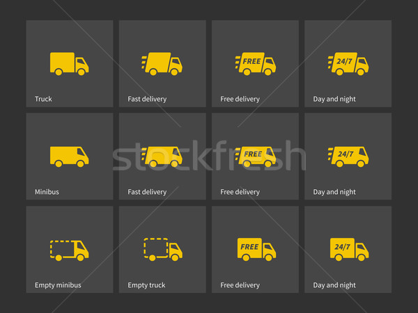 Shipments and free delivery icons. Stock photo © tkacchuk