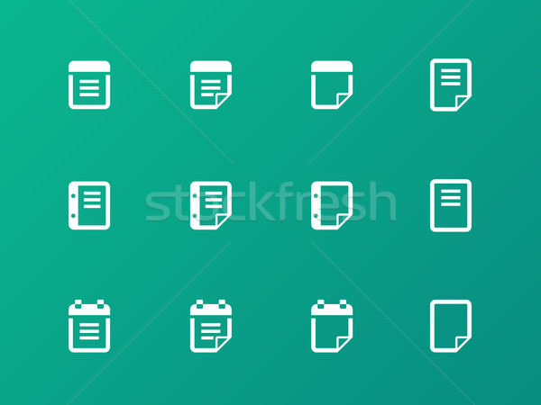 Bloc de notas nota adhesiva negocios papel diseno Foto stock © tkacchuk