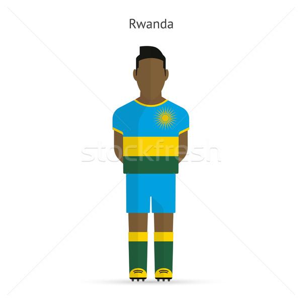 Rwanda football player. Soccer uniform. Stock photo © tkacchuk