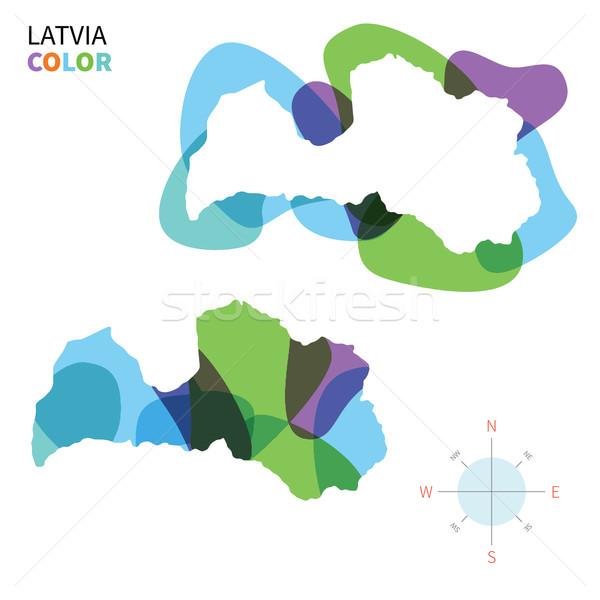 Resumen vector color mapa Letonia transparente Foto stock © tkacchuk