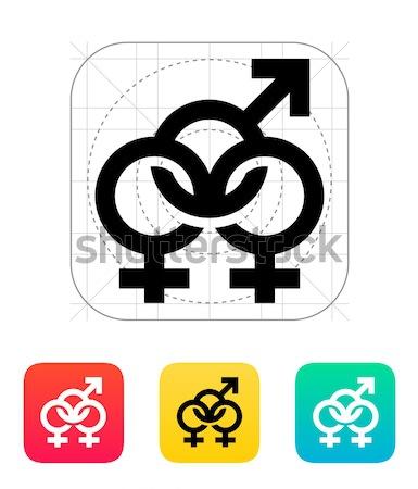 Bisexuels icône fille mariage amour résumé Photo stock © tkacchuk