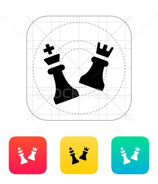 Chess attack icon. Stock photo © tkacchuk