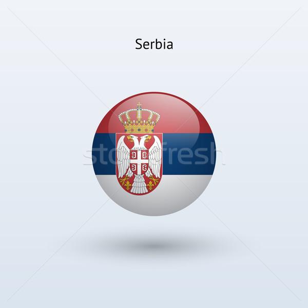 Serbia banderą szary podpisania internetowych podróży Zdjęcia stock © tkacchuk
