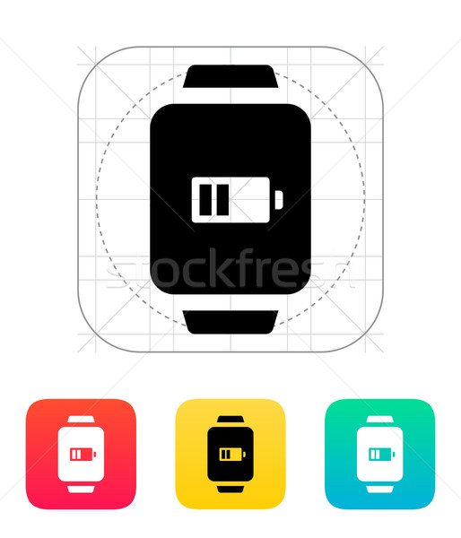 Battery charge in smart watch icon. Stock photo © tkacchuk