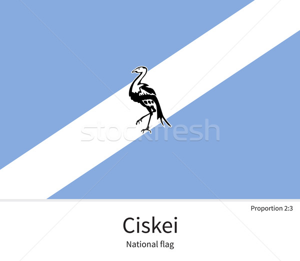 National flag of Ciskei with correct proportions, element, colors Stock photo © tkacchuk
