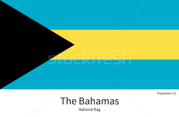 National flag of Bahamas with correct proportions, element, colors Stock photo © tkacchuk