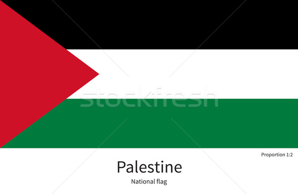 National flag of Palestine with correct proportions, element, colors Stock photo © tkacchuk