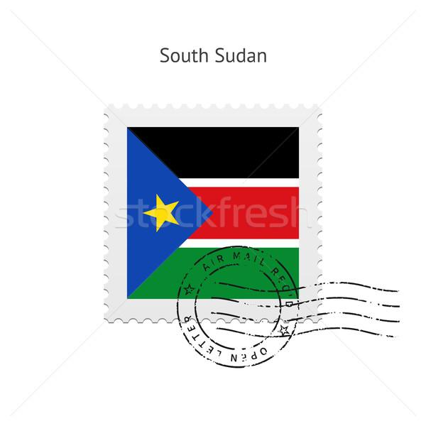 South Sudan Flag Postage Stamp. Stock photo © tkacchuk