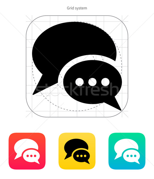 Dialogue bubble icon. Vector illustration. Stock photo © tkacchuk
