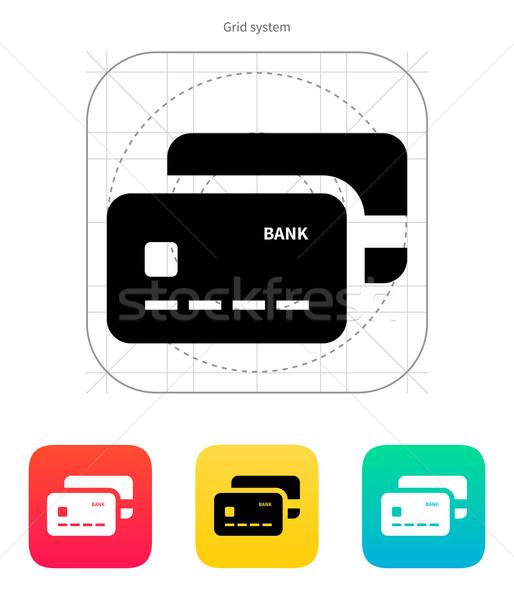 Bank credit cards icon. Stock photo © tkacchuk
