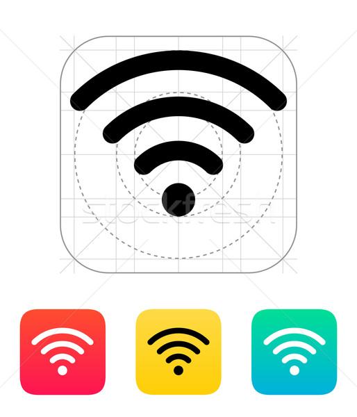 Fără fir reţea icoană tehnologia fara fir tehnologie radio Imagine de stoc © tkacchuk