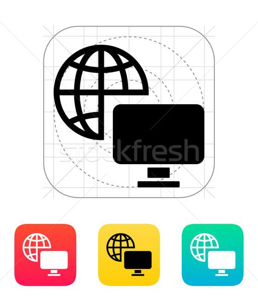 Television icon. Stock photo © tkacchuk