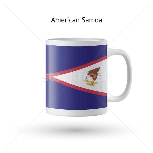 Американское Самоа флаг сувенир кружка белый изолированный Сток-фото © tkacchuk