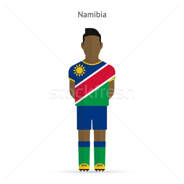 Namibya futbol üniforma soyut uygunluk Stok fotoğraf © tkacchuk