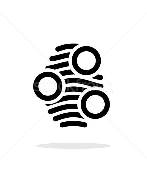 Fingerprint arch type scan icon on white background. Stock photo © tkacchuk