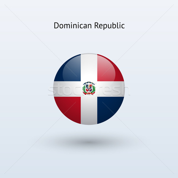Dominican Republic round flag. Stock photo © tkacchuk