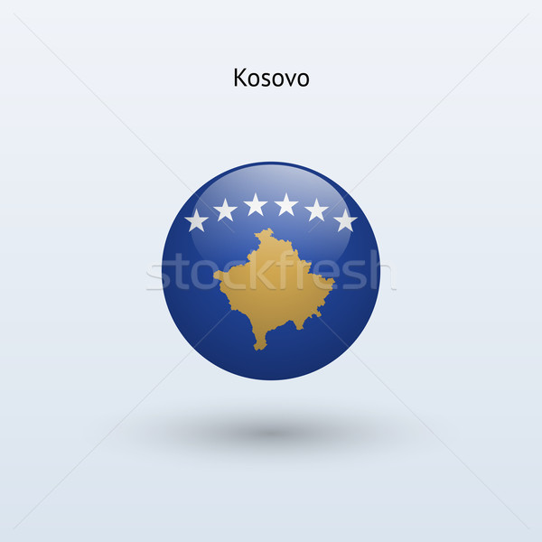 Kosovo bandeira cinza assinar teia viajar Foto stock © tkacchuk