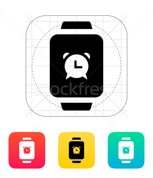 Foto stock: Despertador · inteligentes · ver · icono · negocios · reloj