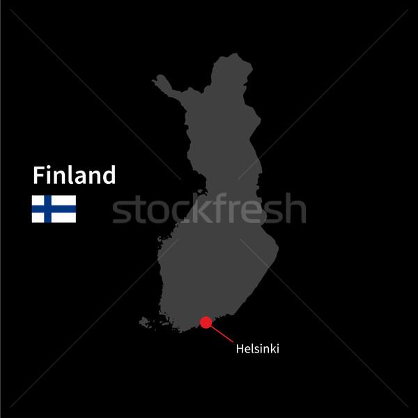 Szczegółowy Pokaż Finlandia miasta Helsinki banderą Zdjęcia stock © tkacchuk