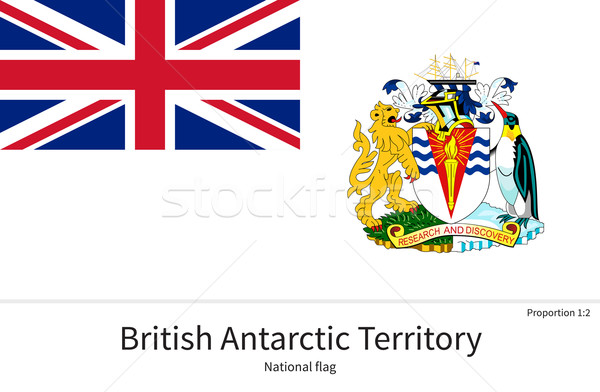 National flag of British Antarctic Territory with correct proportions, element, colors Stock photo © tkacchuk