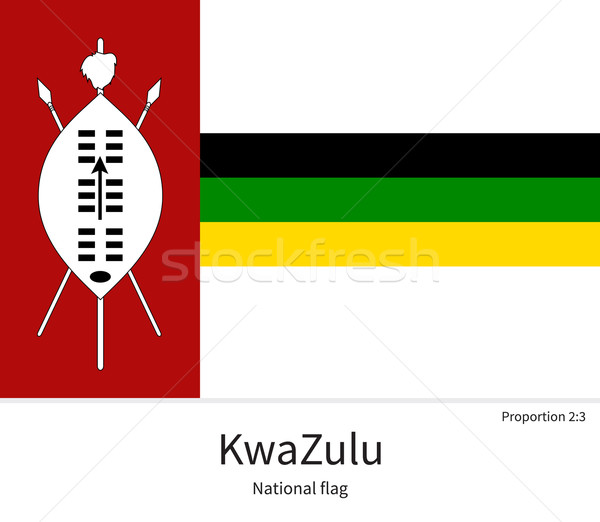 National flag of KwaZulu with correct proportions, element, colors Stock photo © tkacchuk
