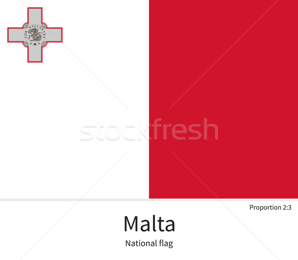 National flag of Malta with correct proportions, element, colors Stock photo © tkacchuk