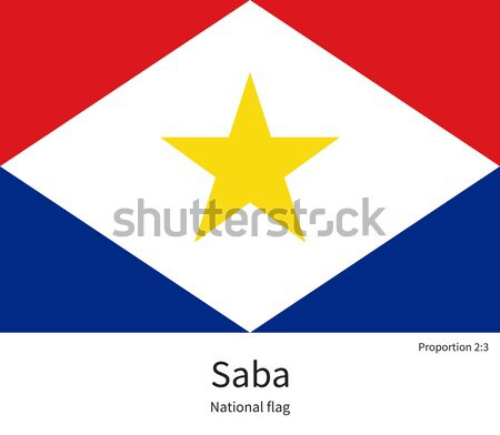 National flag of Saba with correct proportions, element, colors Stock photo © tkacchuk
