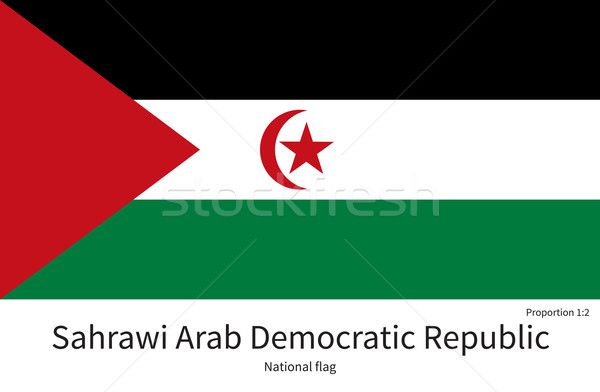 National flag of Sahrawi Arab Democratic Republic with correct proportions, element, colors Stock photo © tkacchuk