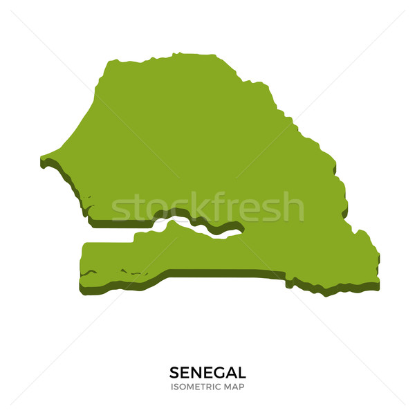 Isometric map of Senegal detailed vector illustration Stock photo © tkacchuk