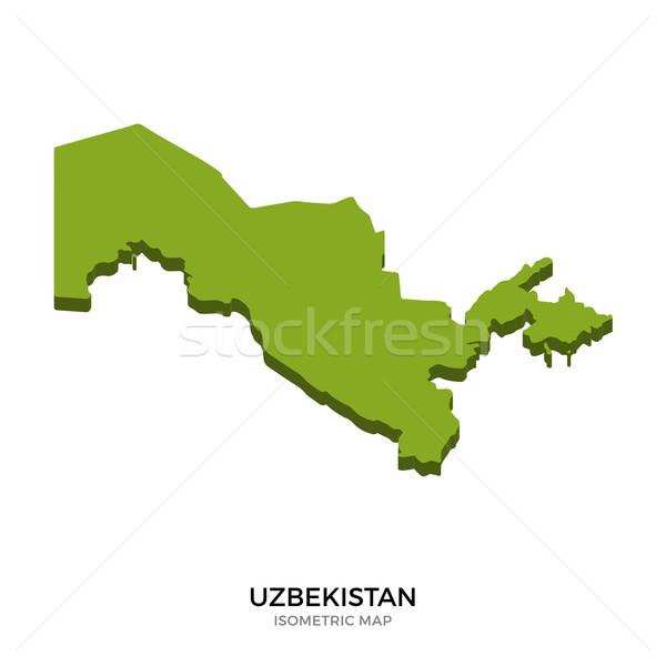 изометрический карта Узбекистан подробный изолированный 3D Сток-фото © tkacchuk