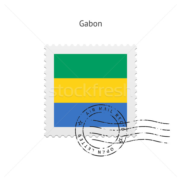 Gabon Flag Postage Stamp. Stock photo © tkacchuk