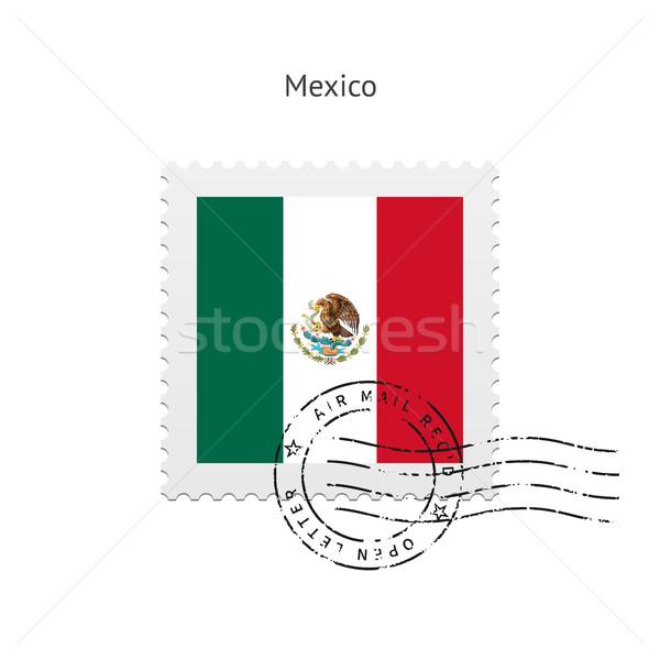 Mexico Flag Postage Stamp. Stock photo © tkacchuk