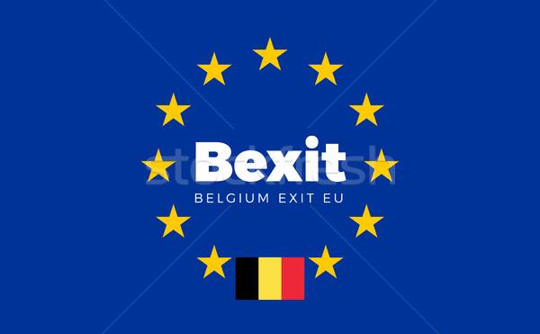 フラグ ヨーロッパの 組合 終了する eu タイトル ストックフォト © tkacchuk