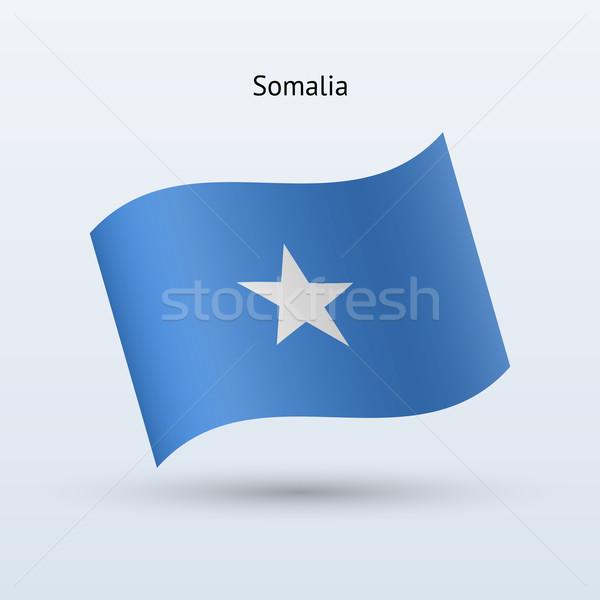 Somalië vlag vorm grijs teken Stockfoto © tkacchuk