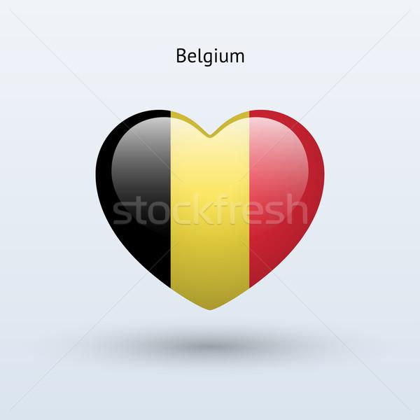 Amor Bélgica símbolo corazón bandera icono Foto stock © tkacchuk