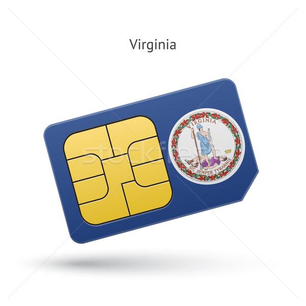 Virginie téléphone carte pavillon affaires technologie Photo stock © tkacchuk