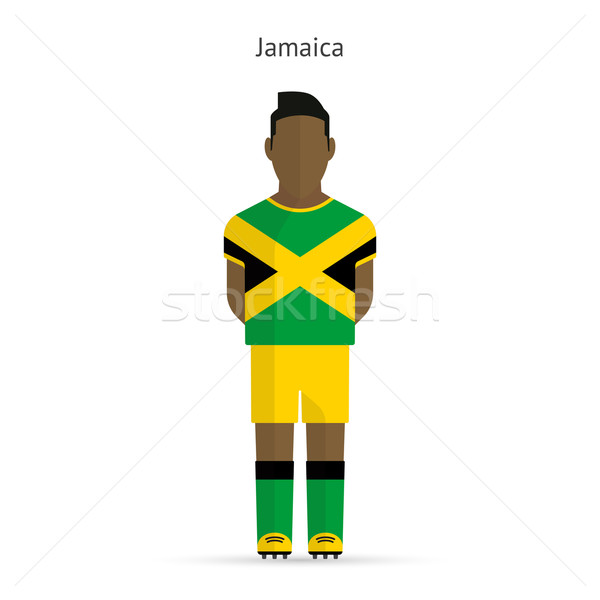 Jamaica football player. Soccer uniform. Stock photo © tkacchuk