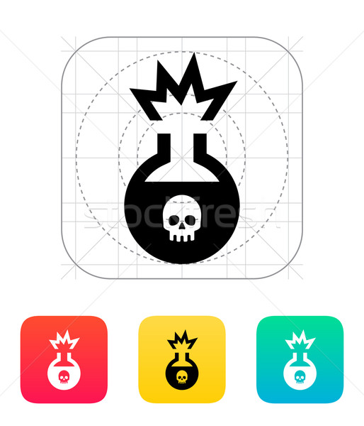 Florence flask with dangerous substance icon. Vector illustration. Stock photo © tkacchuk