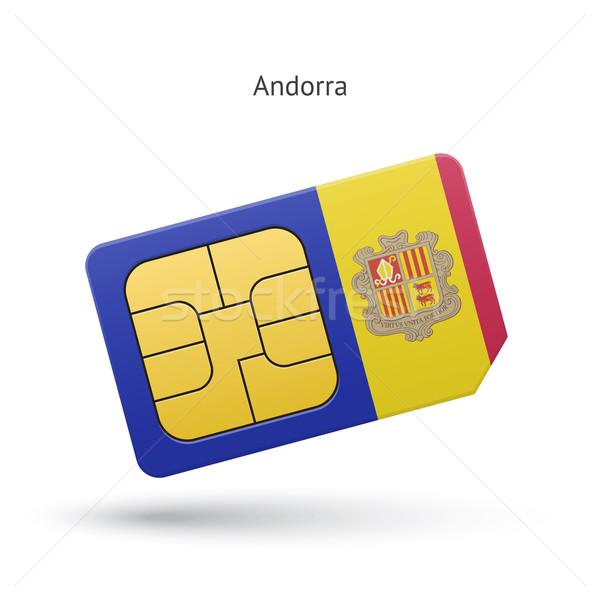 Андорра мобильного телефона карт флаг бизнеса дизайна Сток-фото © tkacchuk