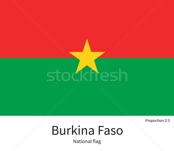 National flag of Burkina Faso with correct proportions, element, colors Stock photo © tkacchuk