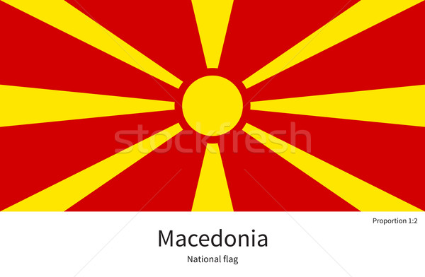 National flag of Macedonia with correct proportions, element, colors Stock photo © tkacchuk