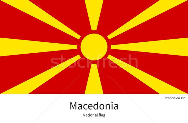 флаг Македонии исправить элемент цветами образование Сток-фото © tkacchuk