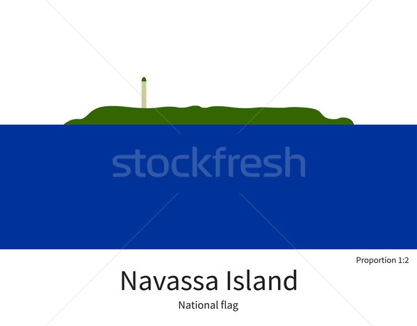 National flag of Navassa Island with correct proportions, element, colors Stock photo © tkacchuk