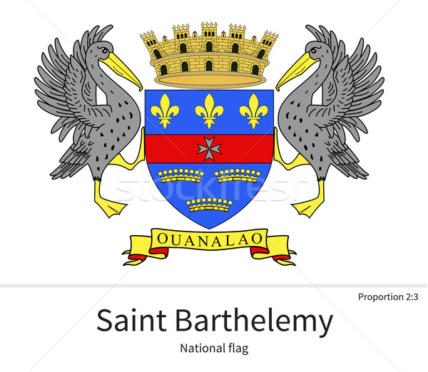 National flag of Saint Barthelemy with correct proportions, element, colors Stock photo © tkacchuk